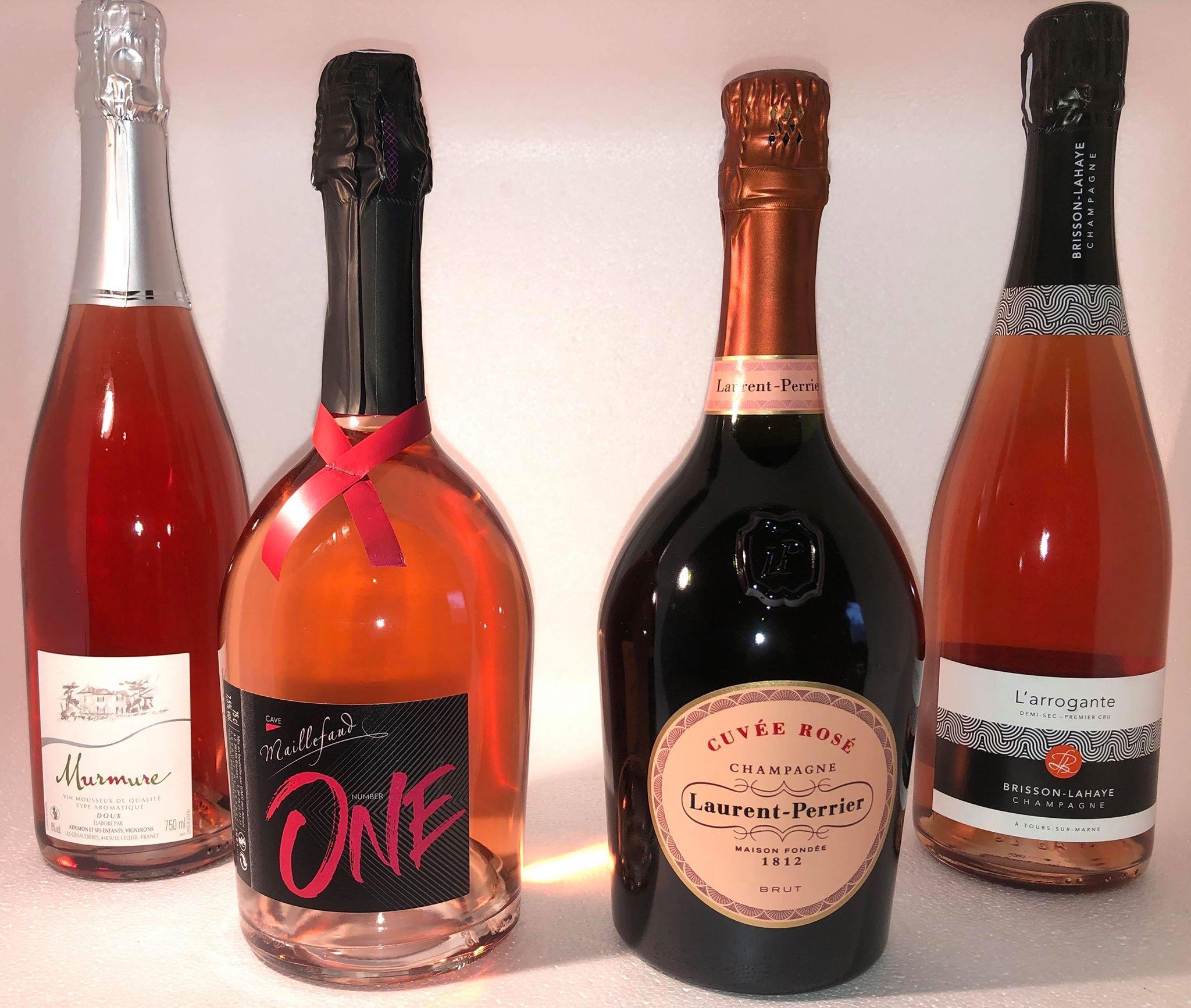 Rosés Pétillants et Champagnes
